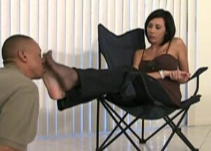 Lesbian feet sniffing