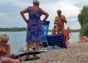 Older woman nudist